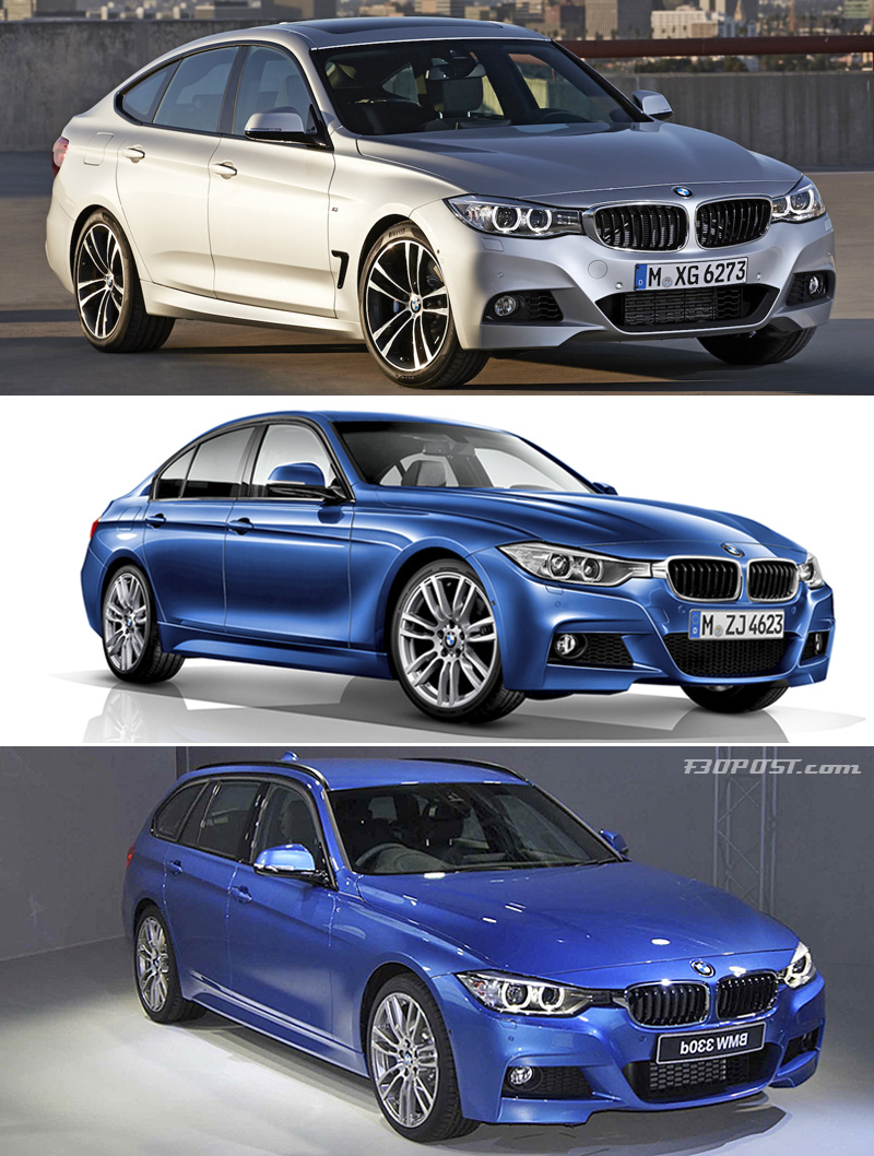 visual comparison bmw 3 gt 3 sedan autos post. Black Bedroom Furniture Sets. Home Design Ideas