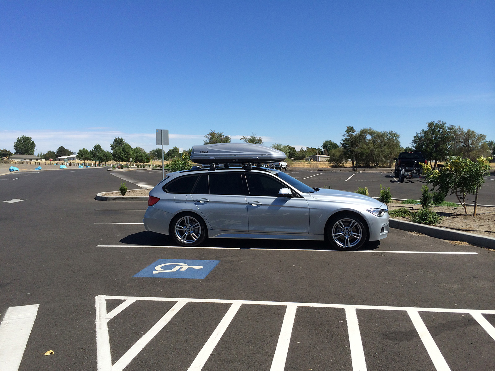 Bmw F31 Thule Roof Bars 2013 Bmw X3 With Thule 460r Podium