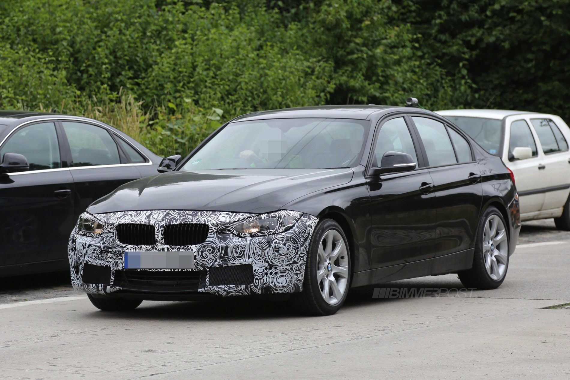 bmw f30 3 series lci facelift prototype spotted. Black Bedroom Furniture Sets. Home Design Ideas
