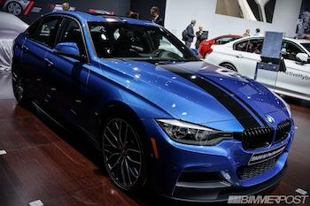 NYIAS 2013 BMW M Performance Parts Estoril Blue 328i