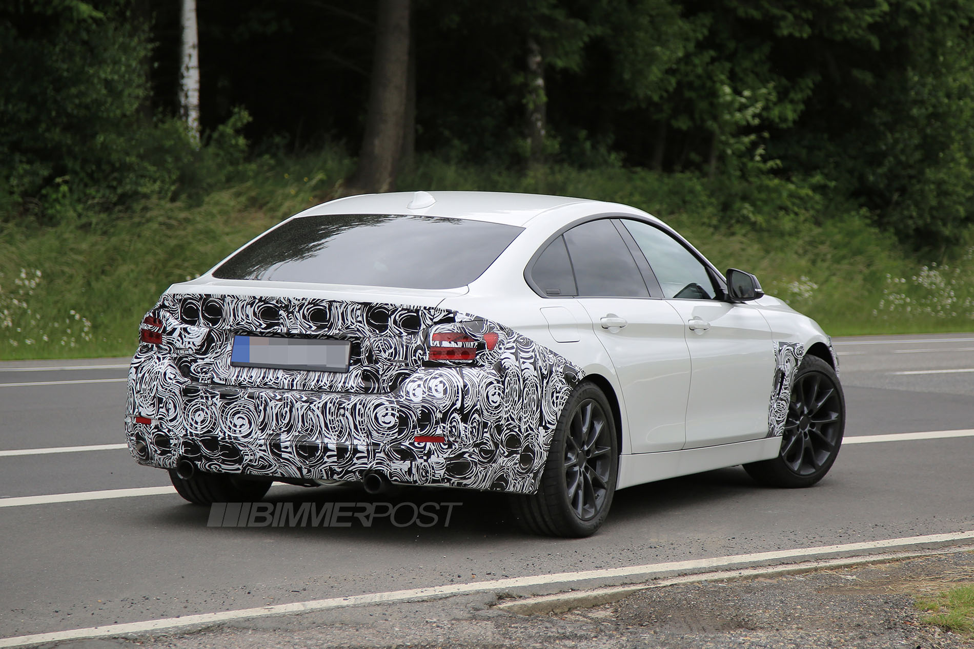 bmw 4 series lci facelift first sighting. Black Bedroom Furniture Sets. Home Design Ideas