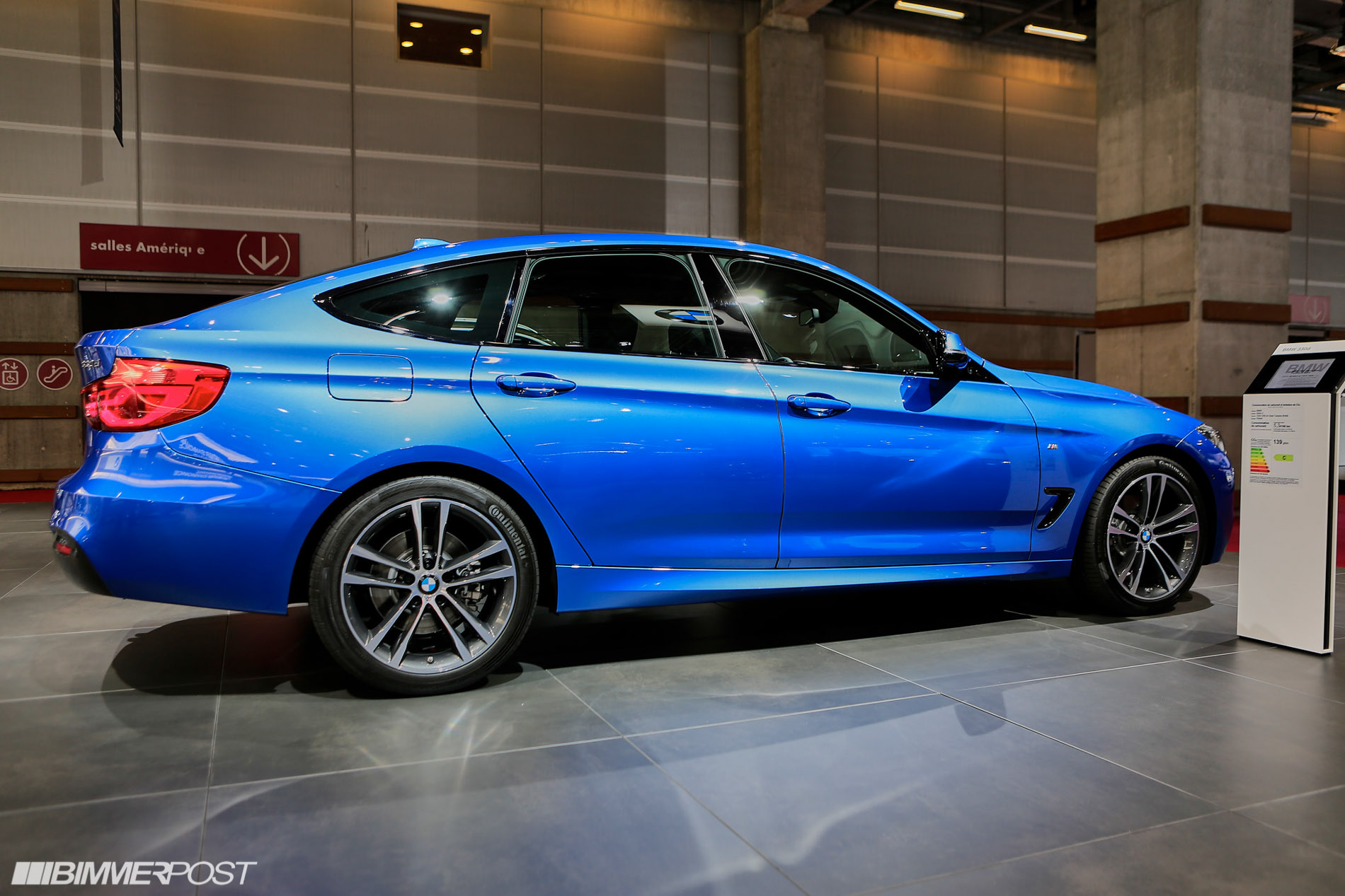 new bmw 3 series gran turismo lci debuts at paris auto show. Black Bedroom Furniture Sets. Home Design Ideas