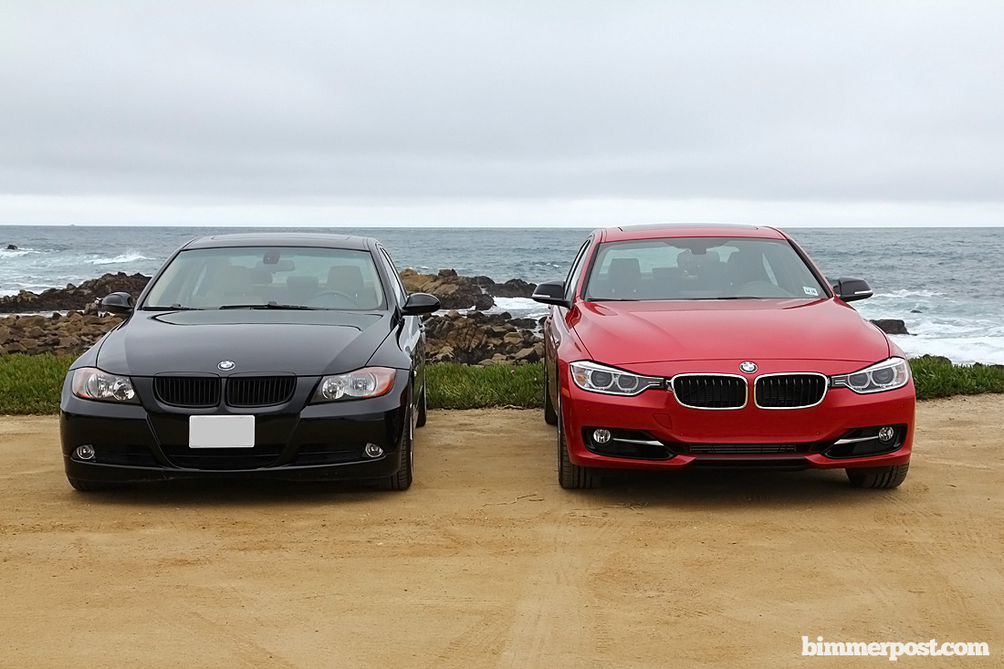 bmw f30 lined up against e90 side by side comparison photos. Black Bedroom Furniture Sets. Home Design Ideas