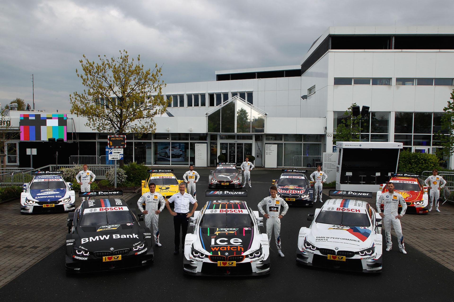 2015 M4 DTM lineup presented at BMW Dealership Nürnberg